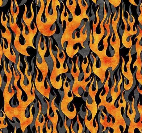 5 Alarm Flames - Gray