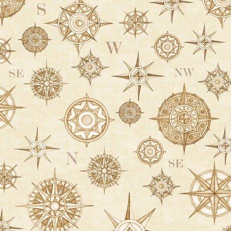 Wanderlust Compasses - Cream