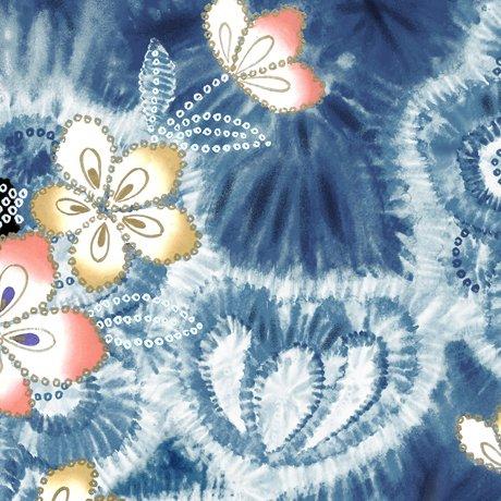 Akemi - Tye Dye Floral - Denim