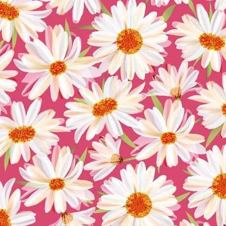 Daisy Meadow - Daisies Dark Pink