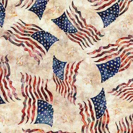 Liberty, Glory, Freed - Flag Toss - Cream