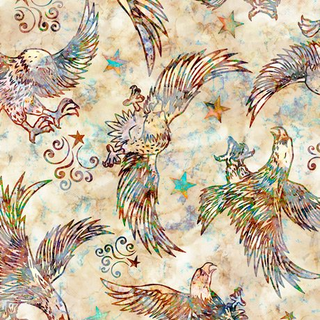 Liberty, Glory, Freed - Eagle Toss - Cream