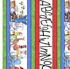 Alphabet Soup - Alphabet Stripe - Multi