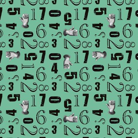 Aquatic Steampunkery - Numbers Toss - Aqua