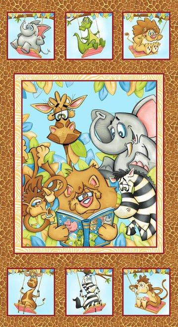 A Jungle Story - Banner Panel - Ochre