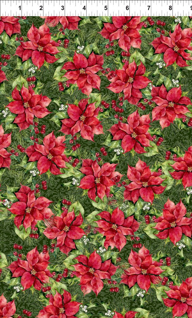 A Poinsettia Winter - Poinsettias - Red