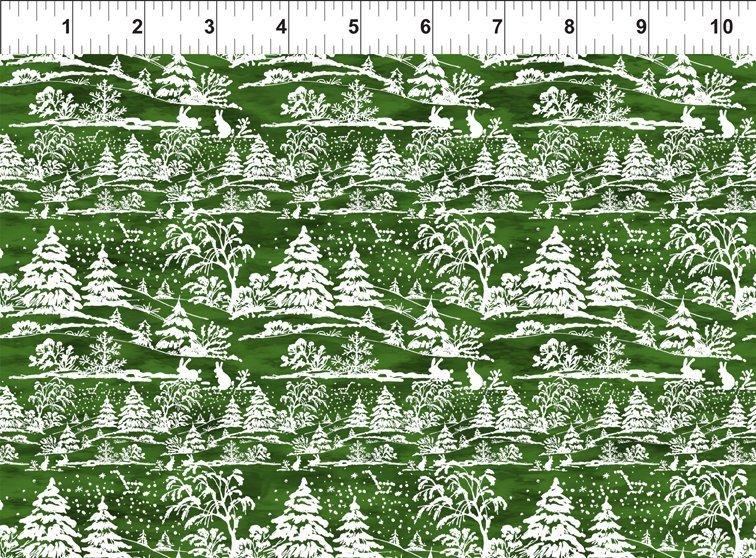 A Poinsettia Winter - Treescape - Green