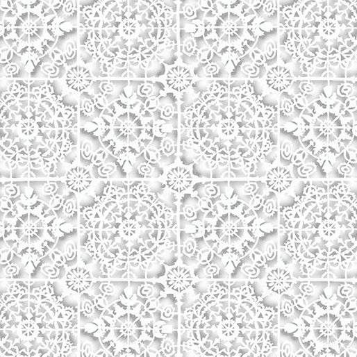 White Tiles Dark Silver/White
