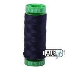 40wt Aurifil 150m Thread Spool - 2785 Very Dark Navy