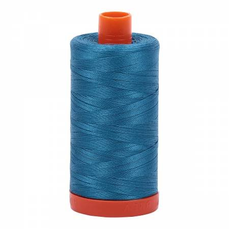 Aurifil Mako 50 Cotton 1125 Adriatic Blue
