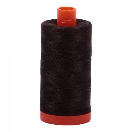 Aurifil Mako 50 Cotton 1130 Very Dark Bark