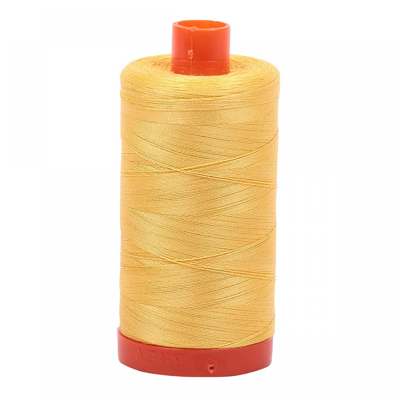 Aurifil Mako 50 Cotton 1135 Light Yellow