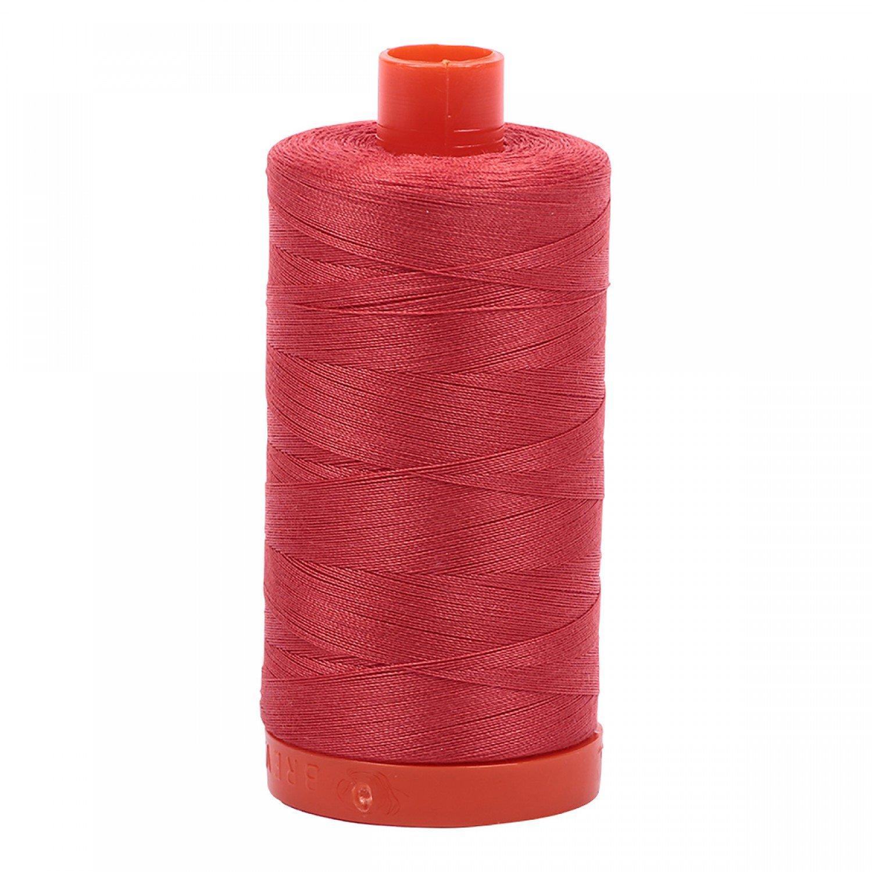 Aurifil Mako 50 Cotton 2255 Dark Red Orange