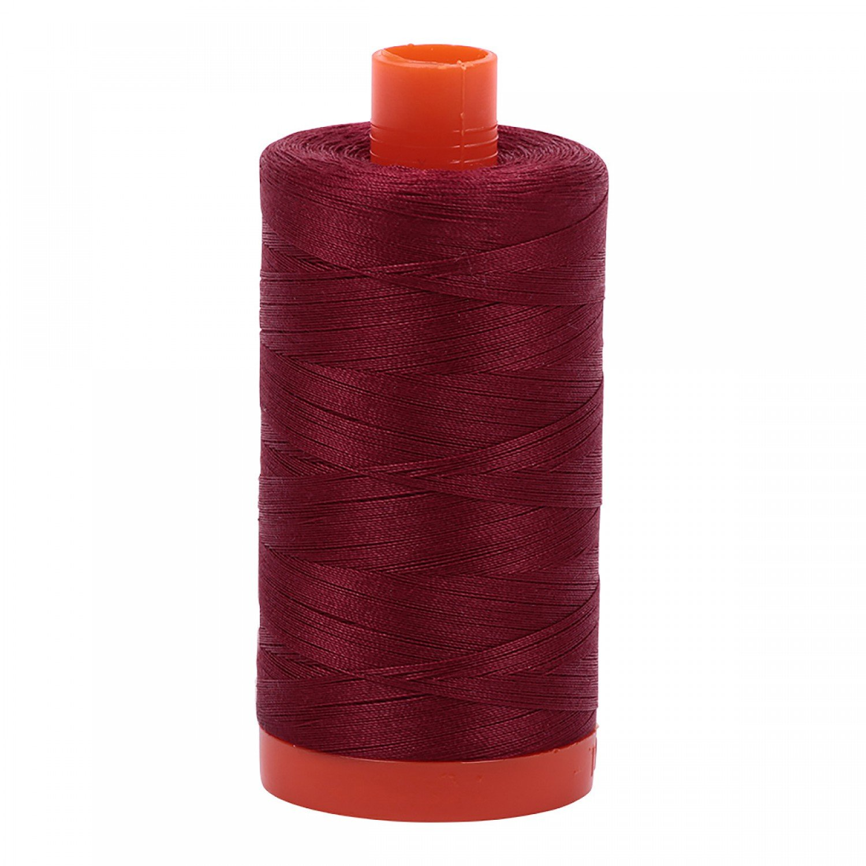 Aurifil Mako 50 Cotton 2460 Dark Carmine Red