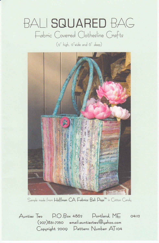 Bali Squared Bag - Clothesline Crafts