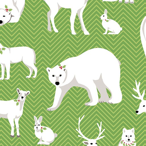 White Animals Green