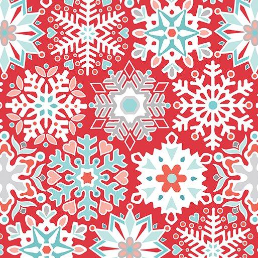 Geo Snowflake Red