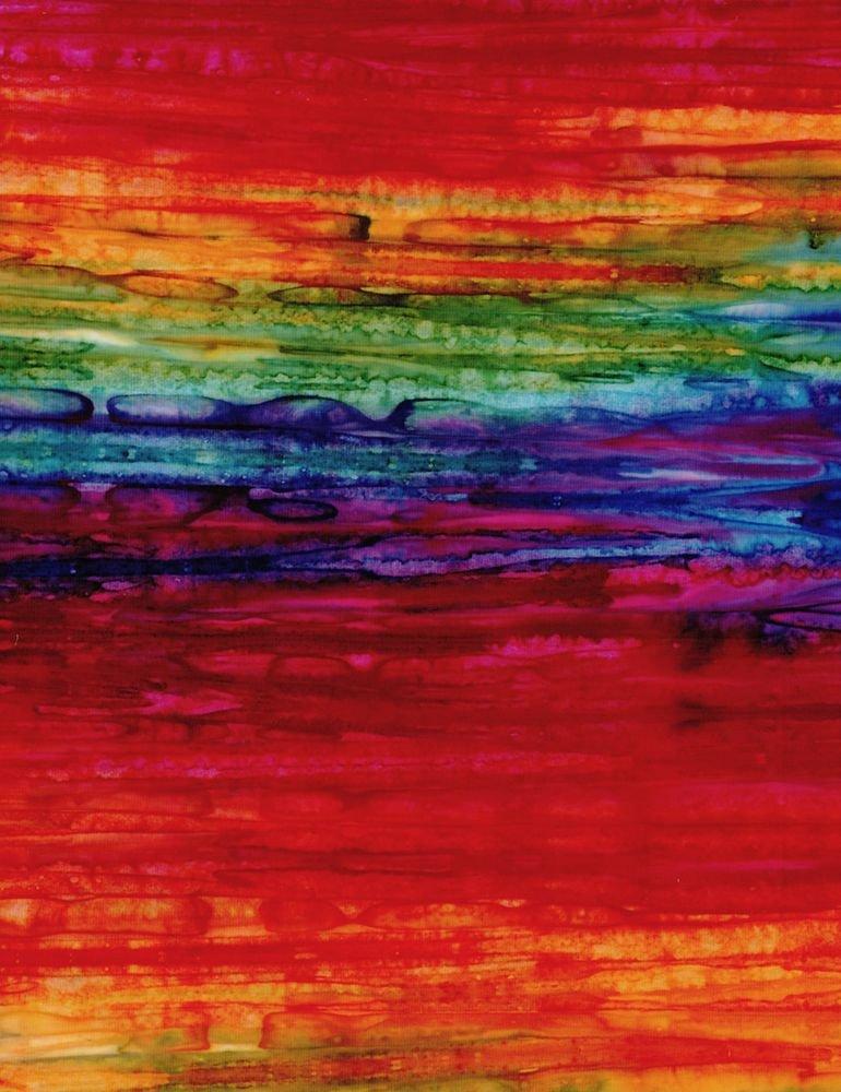Tonga - Watercolor Streaks - Rainbow