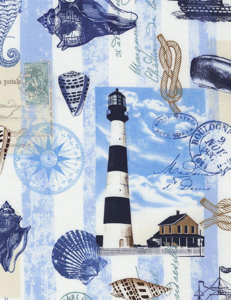 Beach - Nautical Postcard - Neutral