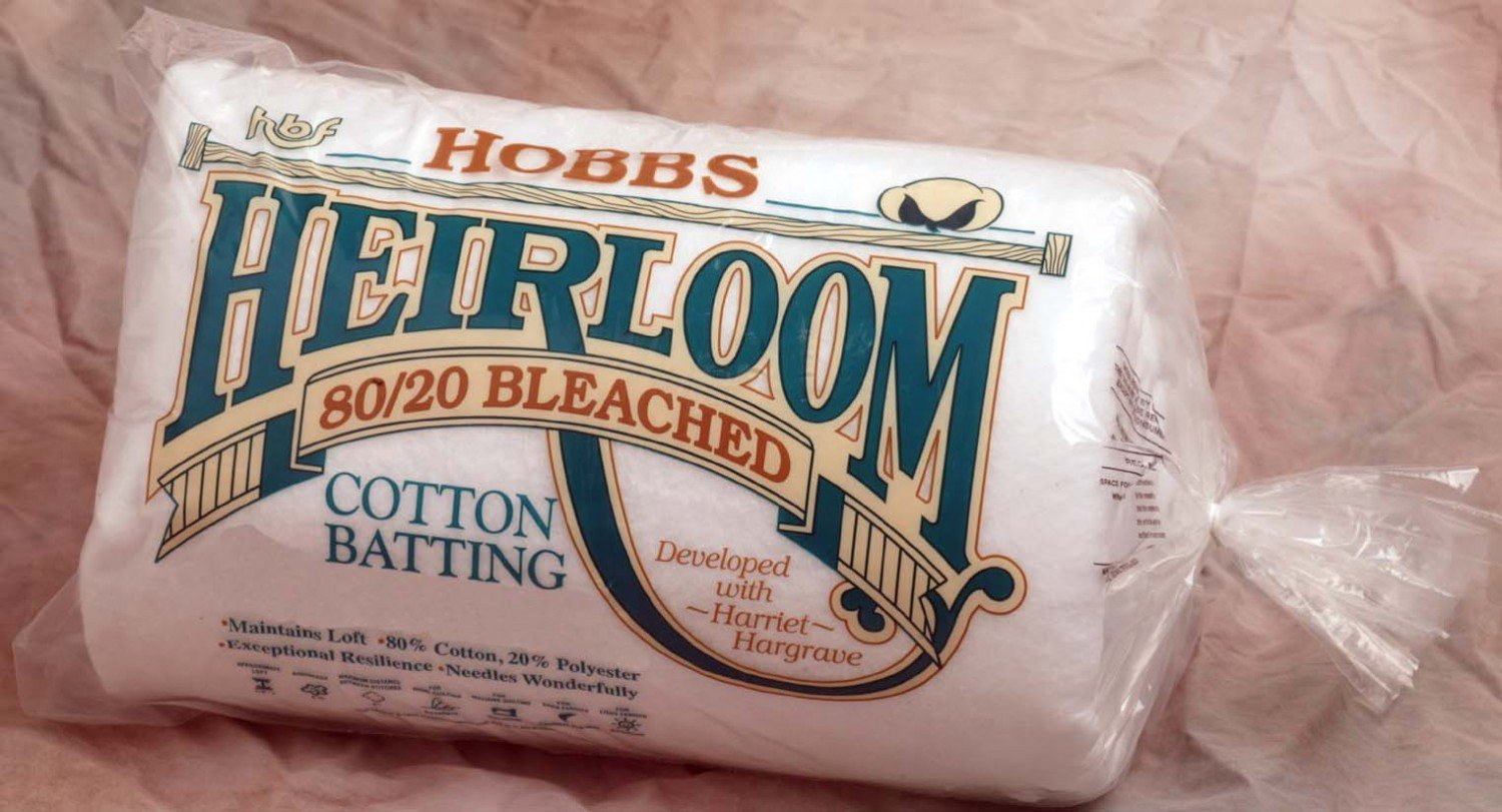 Batting Heirloom Bleached Cotton Blend 120in x 120in King