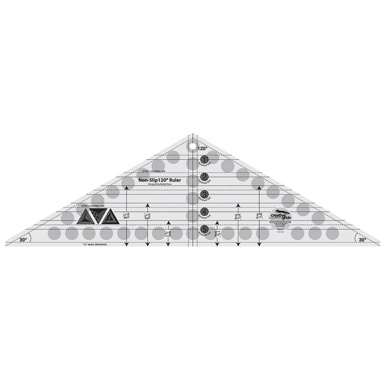 Creative Grids 120 Degree Triangle Ruler 6-1/2in x 21-1/2in