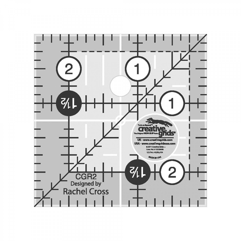 Creative Grids 2-1/2 square ruler