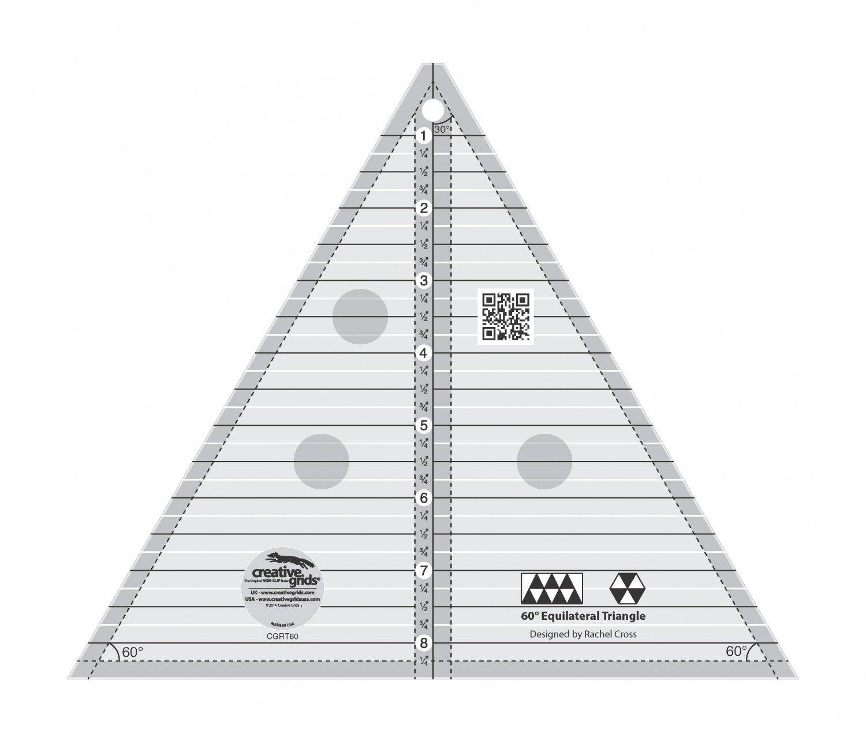Creative Grids 8-1/2 60-degree Triangle