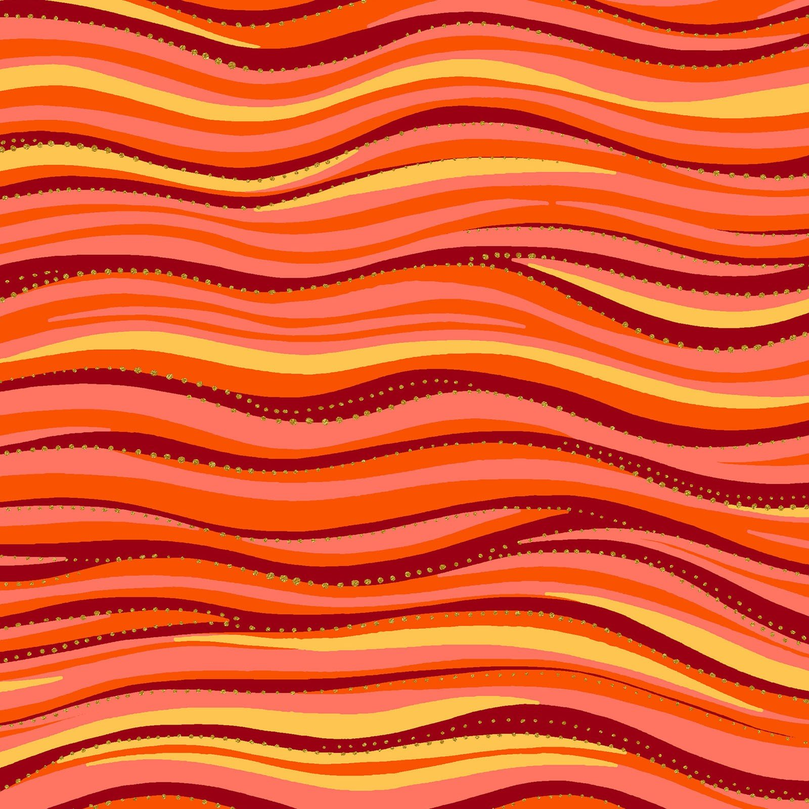 LB Basic Wave Metallic - Orange
