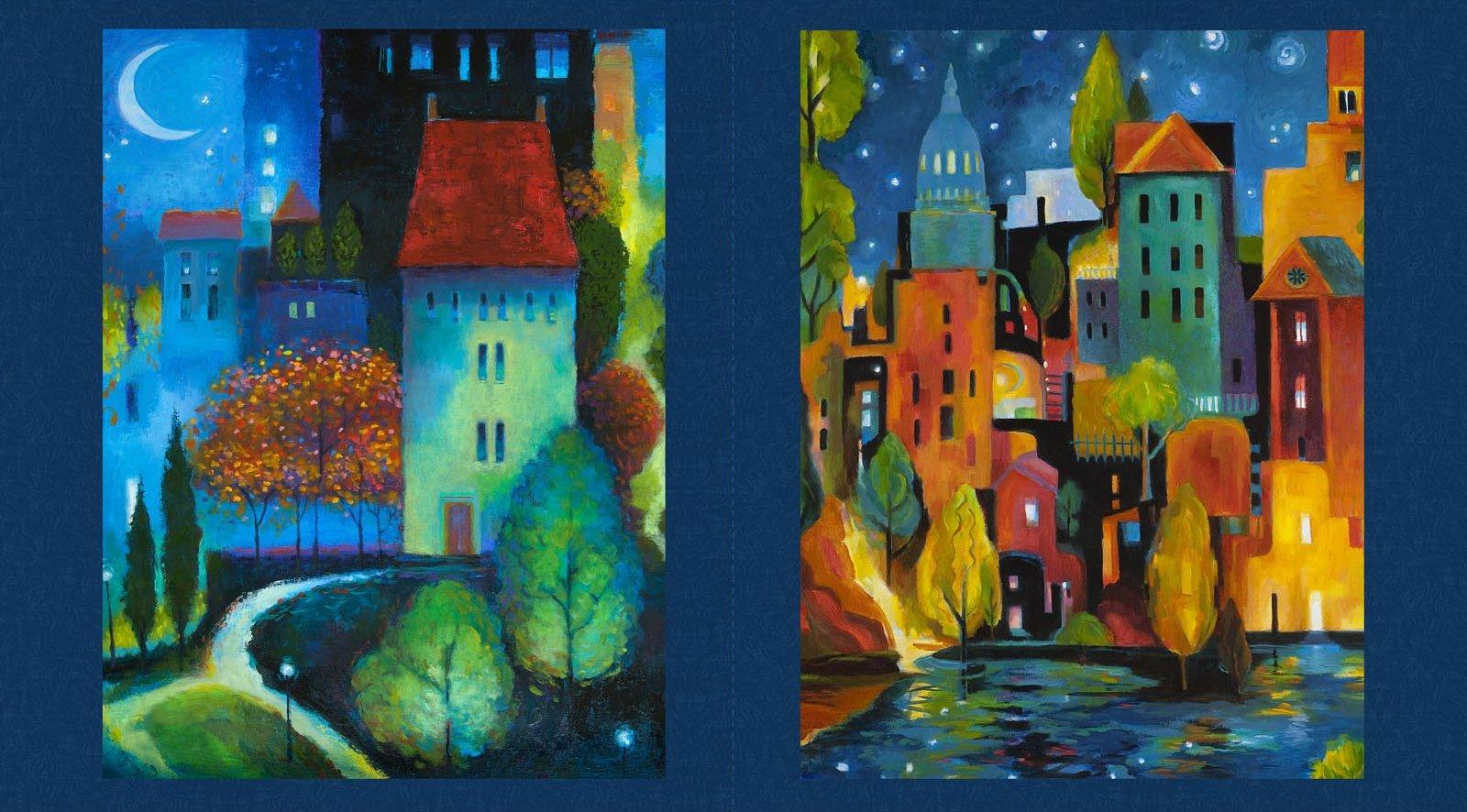 City Dreams Panel - Light Navy