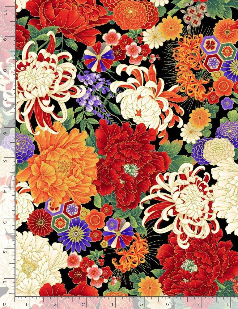 Koko-En Florals Medium CM7874 Multi