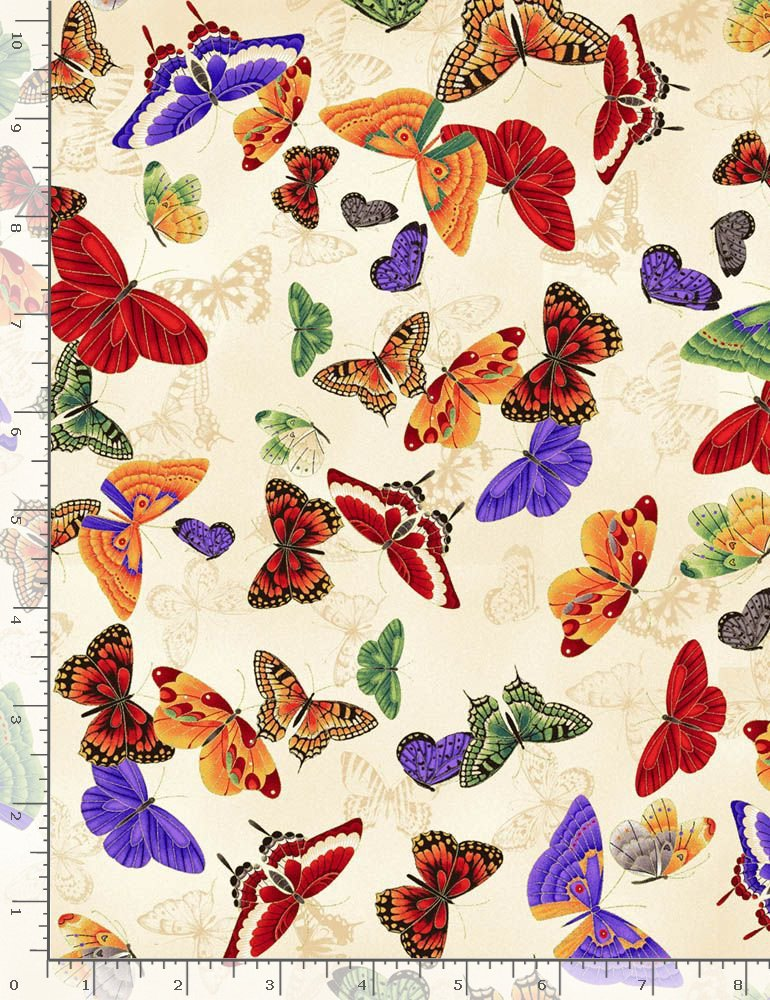 Koko-En Butterflies CM7876 Cream