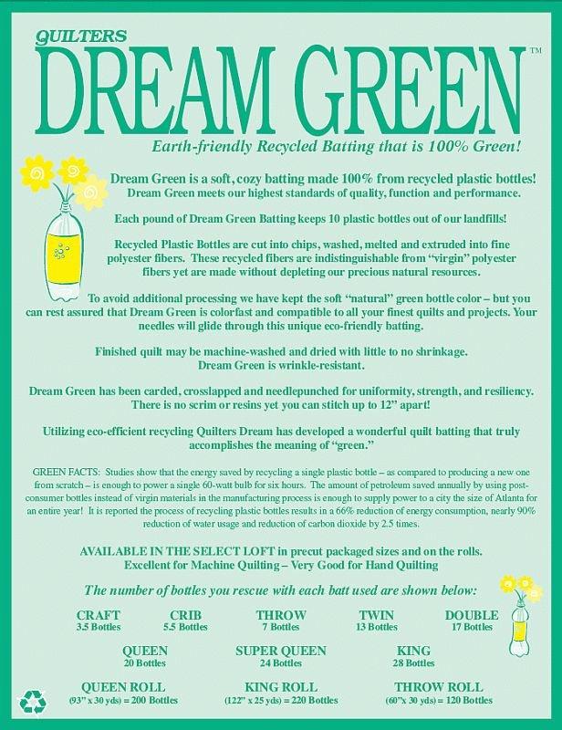 Quilters Dream Green - Queen 108x93