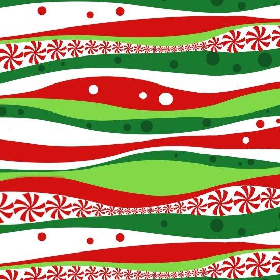 Peppermint Reindeer - Wavey Stripe