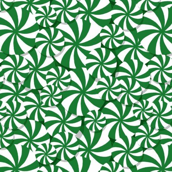 Peppermint Reindeer - Allover - green