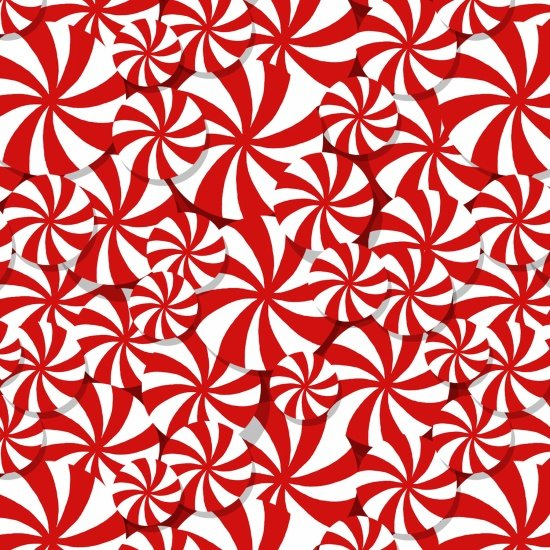 Peppermint Reindeer - Allover - red