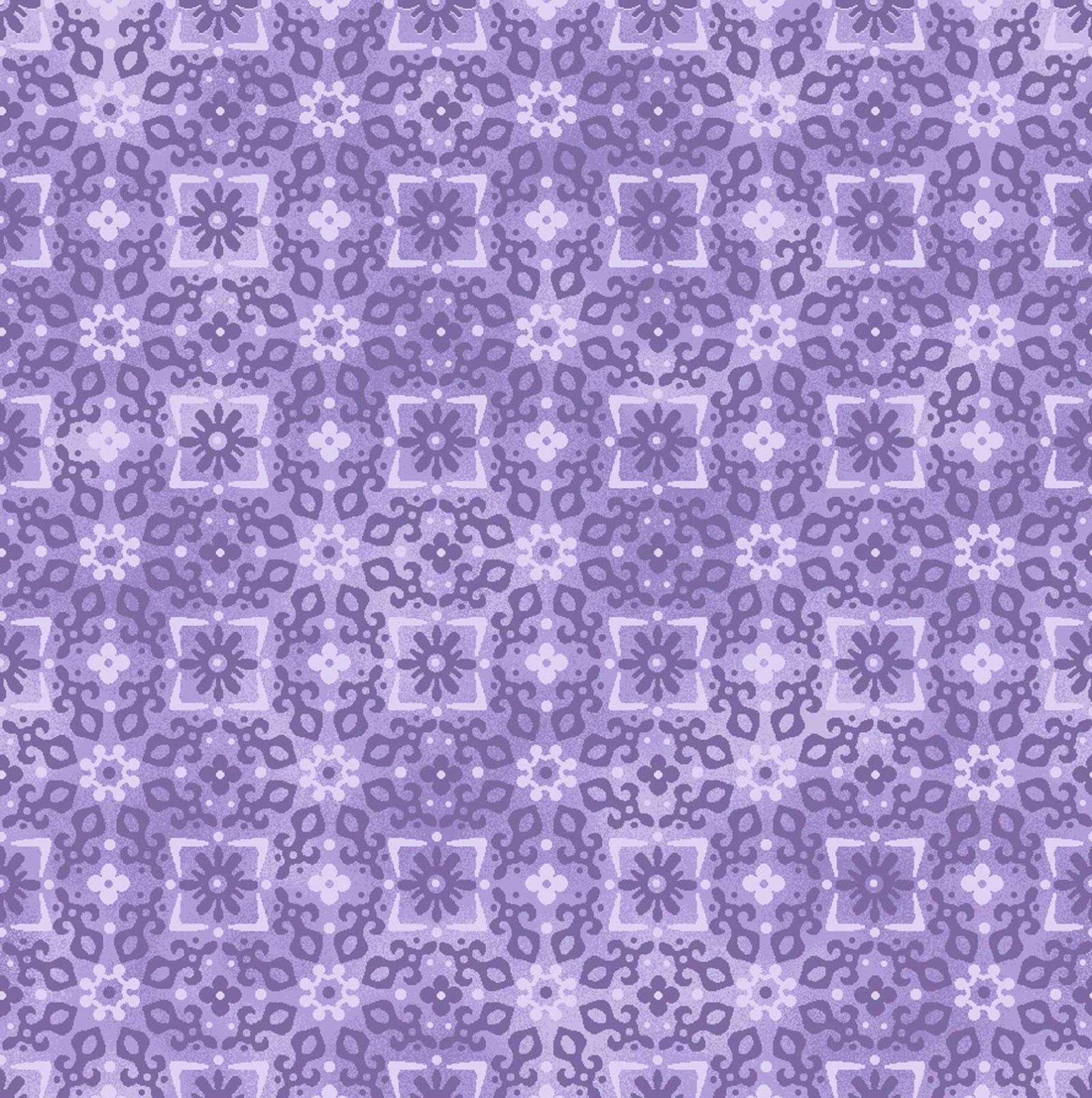 Enchanted - Tonal Flowers/Sq Purple