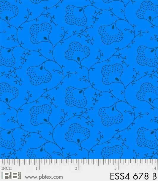 Bear Essentials 4 Scroll Flower Blue