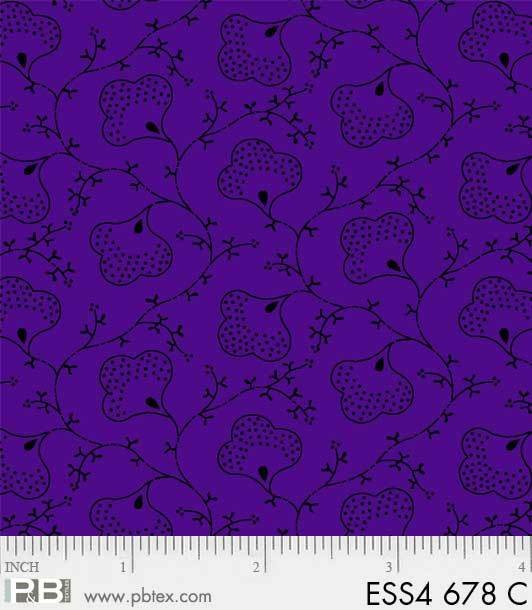 Bear Essentials 4 Scroll Flower Purple