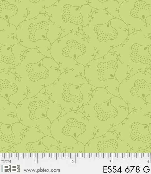 Bear Essentials 4 Scroll Flower Green