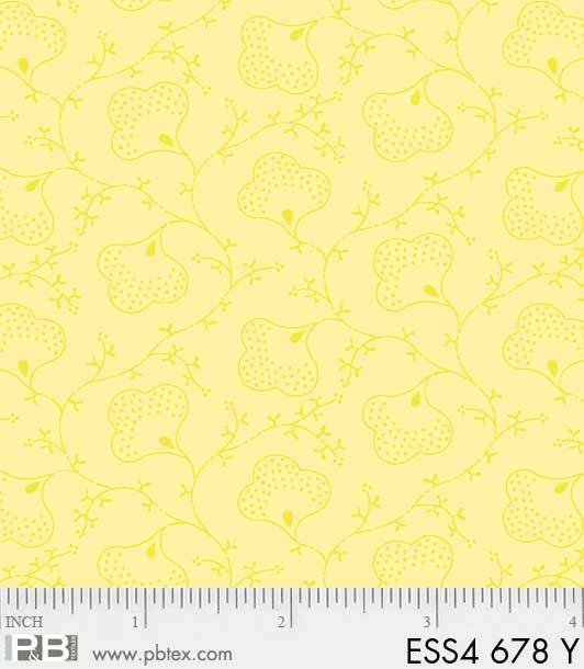 Bear Essentials 4 Scroll Flower Yellow