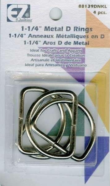 D-Rings - Glossy Nickel 1-1/4 4/pkg