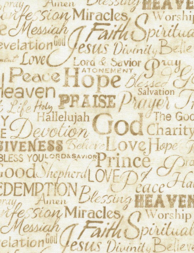 Faith - Religious Phrases - Cream