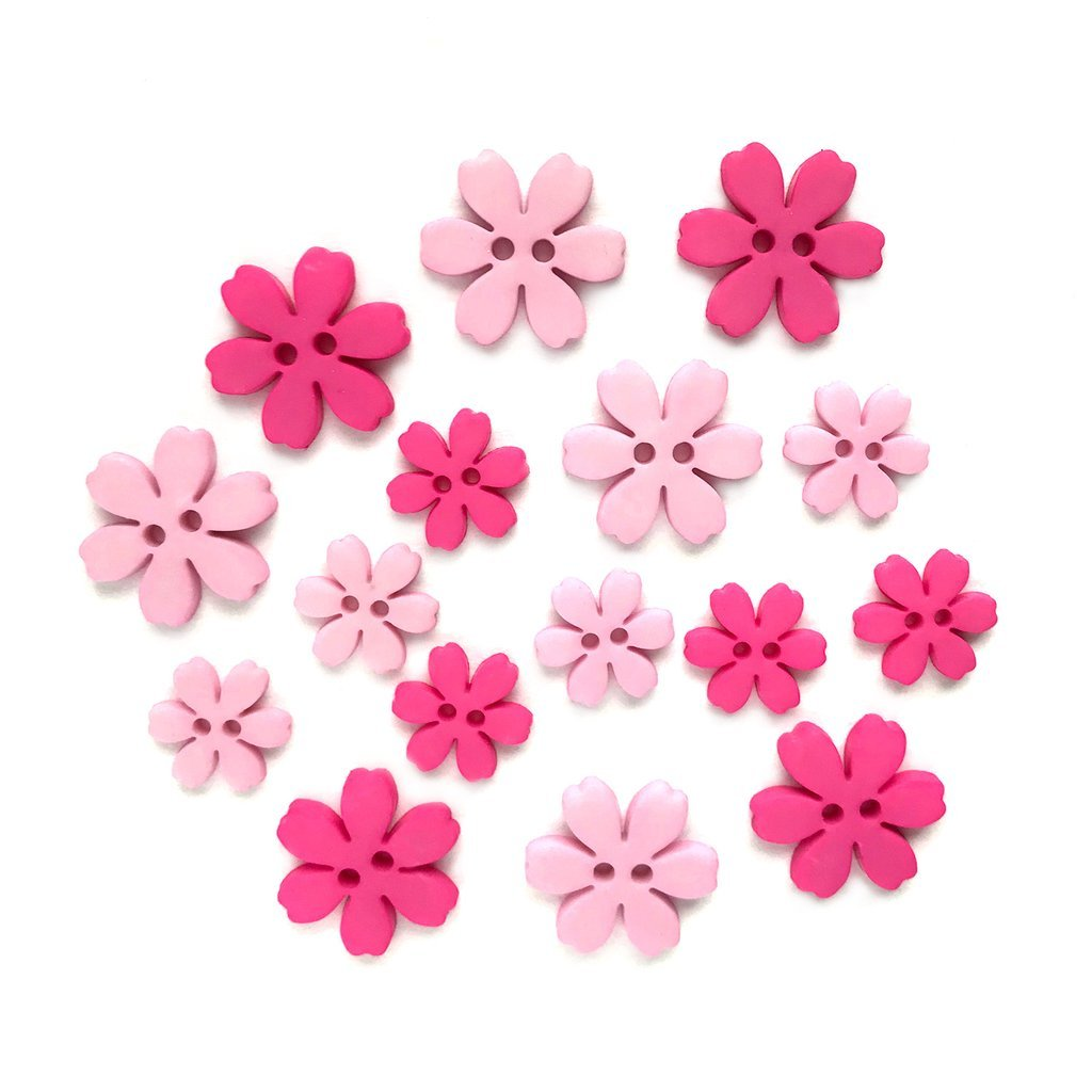Flower Power Buttons - Hibiscus