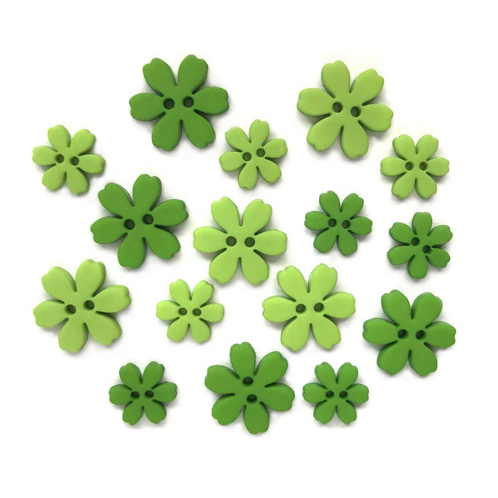 Flower Power Buttons - Bells of Ireland