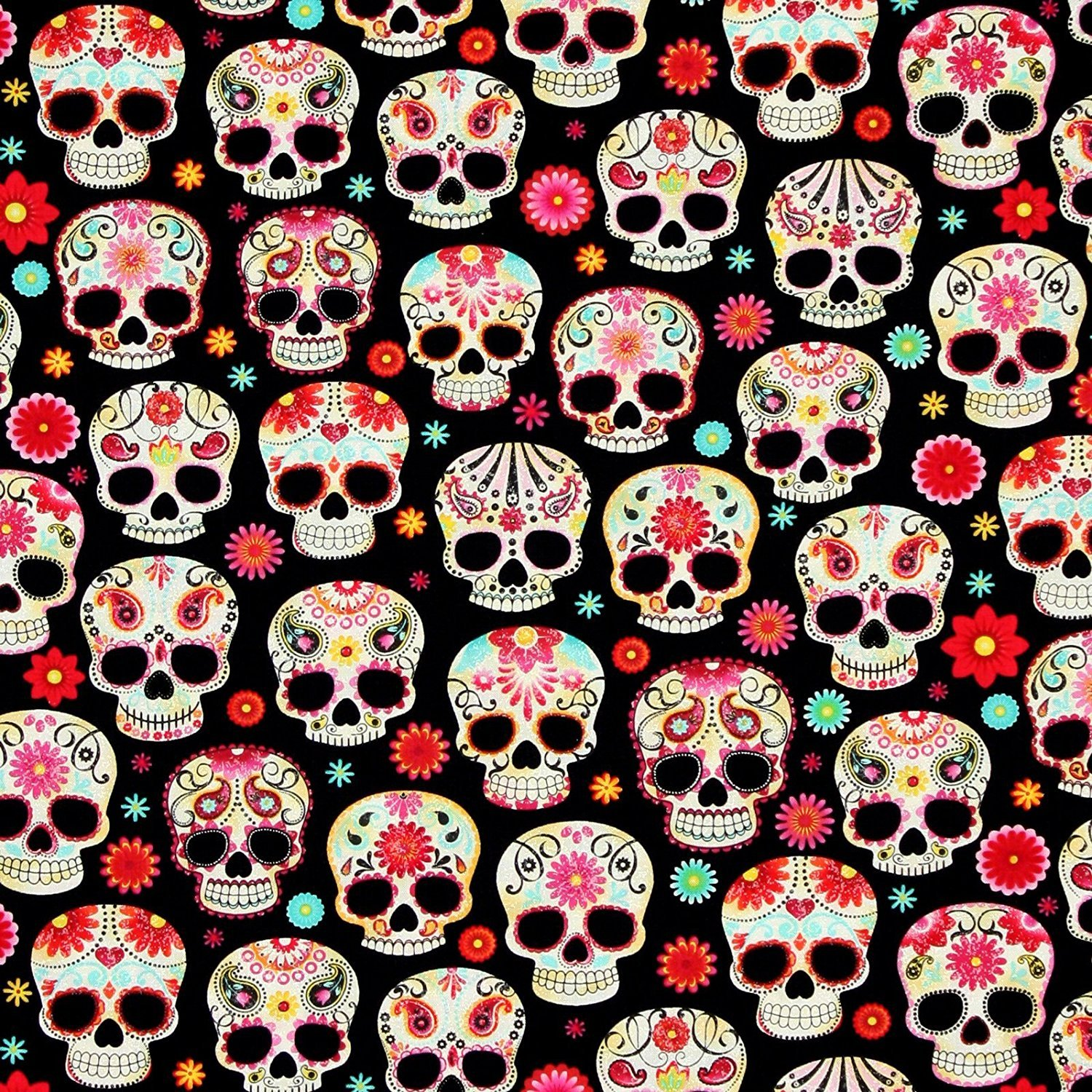Fun C4139 Sugar Skulls - Black