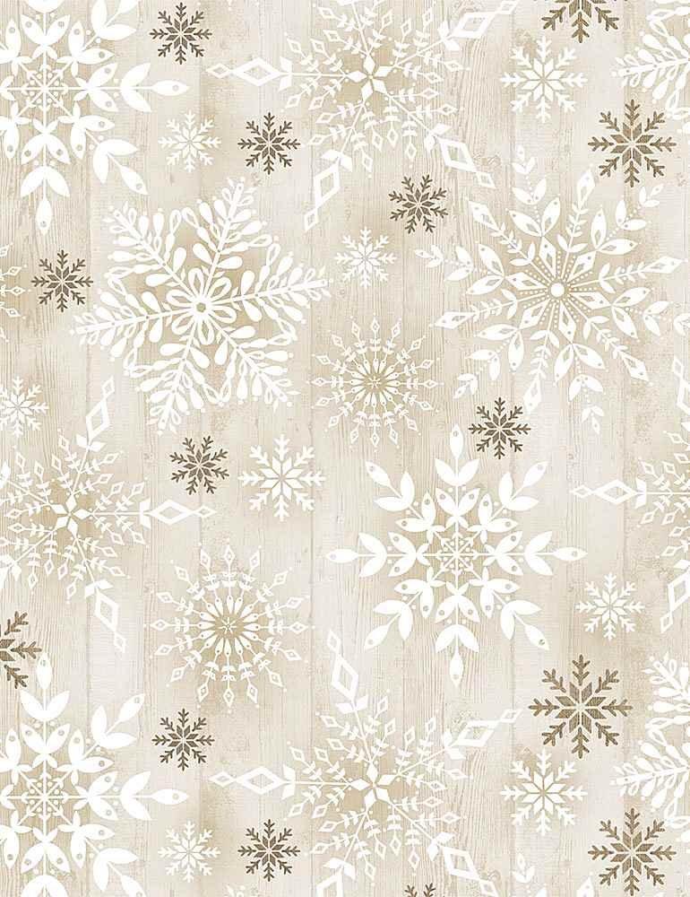 Stamped Snowflakes on Wood