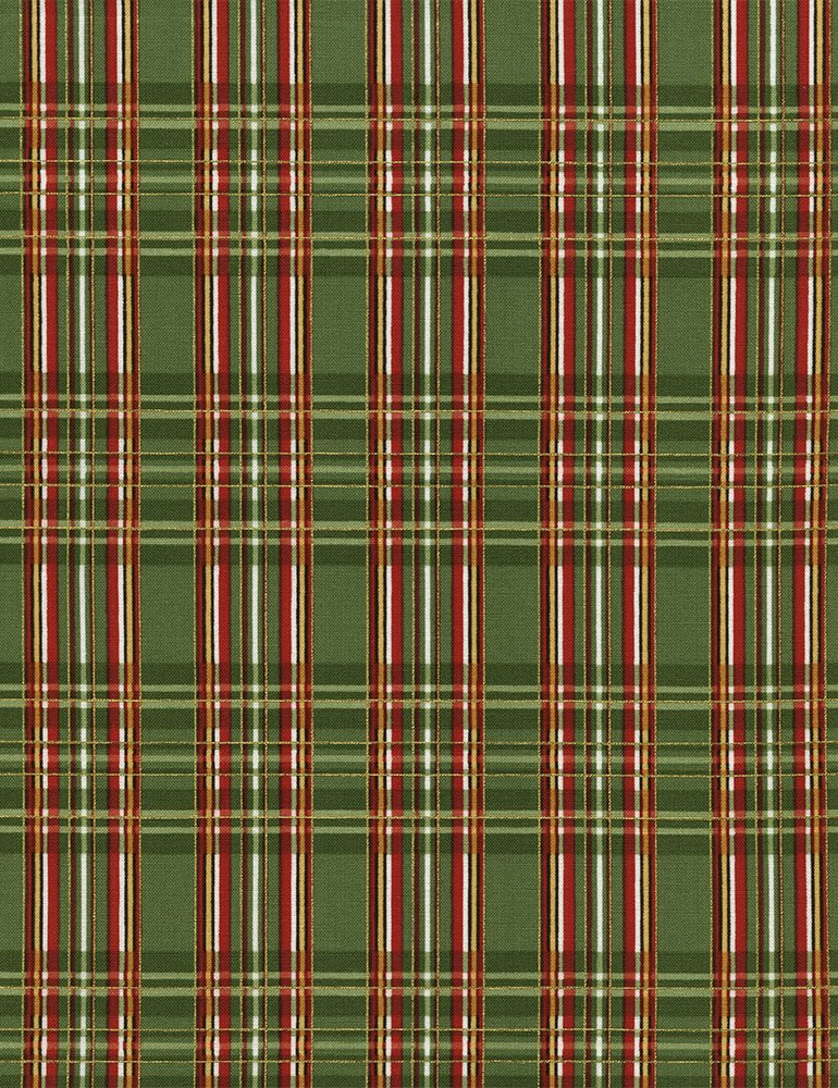 Holiday - Metallic Plaid Green