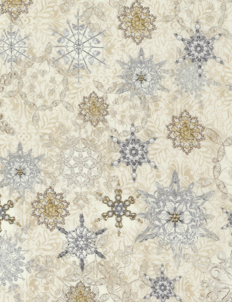 Holiday - Snowflakes - Natural