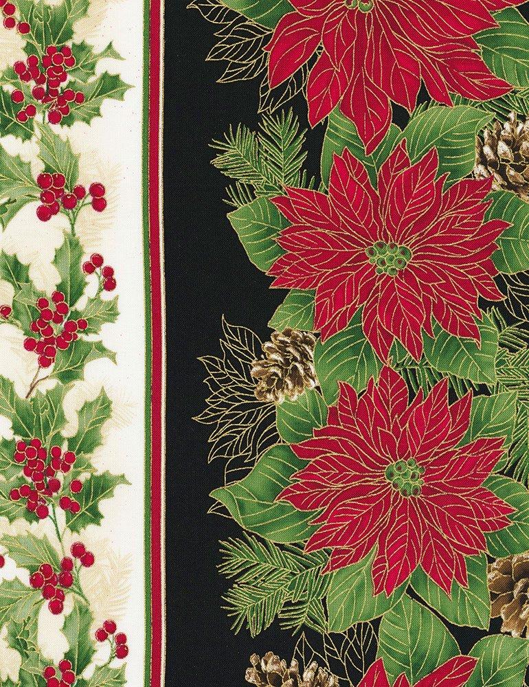 Holiday - Poinsettia Holiday Stripe - Multi