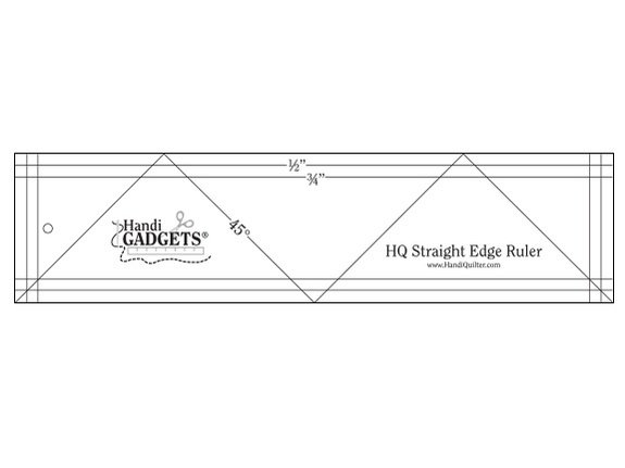 HQ Straight Edge Ruler 3 x 12